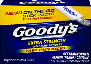 product image for Goody's Extra Strength Headache Powder Temporarily relieves Minor Aches and Pains Due to Headaches, Minor Arthritis Pain, colds, backaches, Muscle Aches, toothaches and Menstrual Cramps