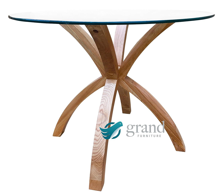 Oa oak dining room table phoenix -  New Phoenix Solid Oak Glass Dining Table Modern Clear Dining Room