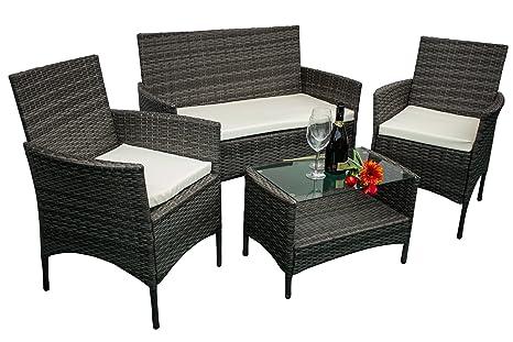 Avanti trendstore andria set di mobili da giardino in ecorattan