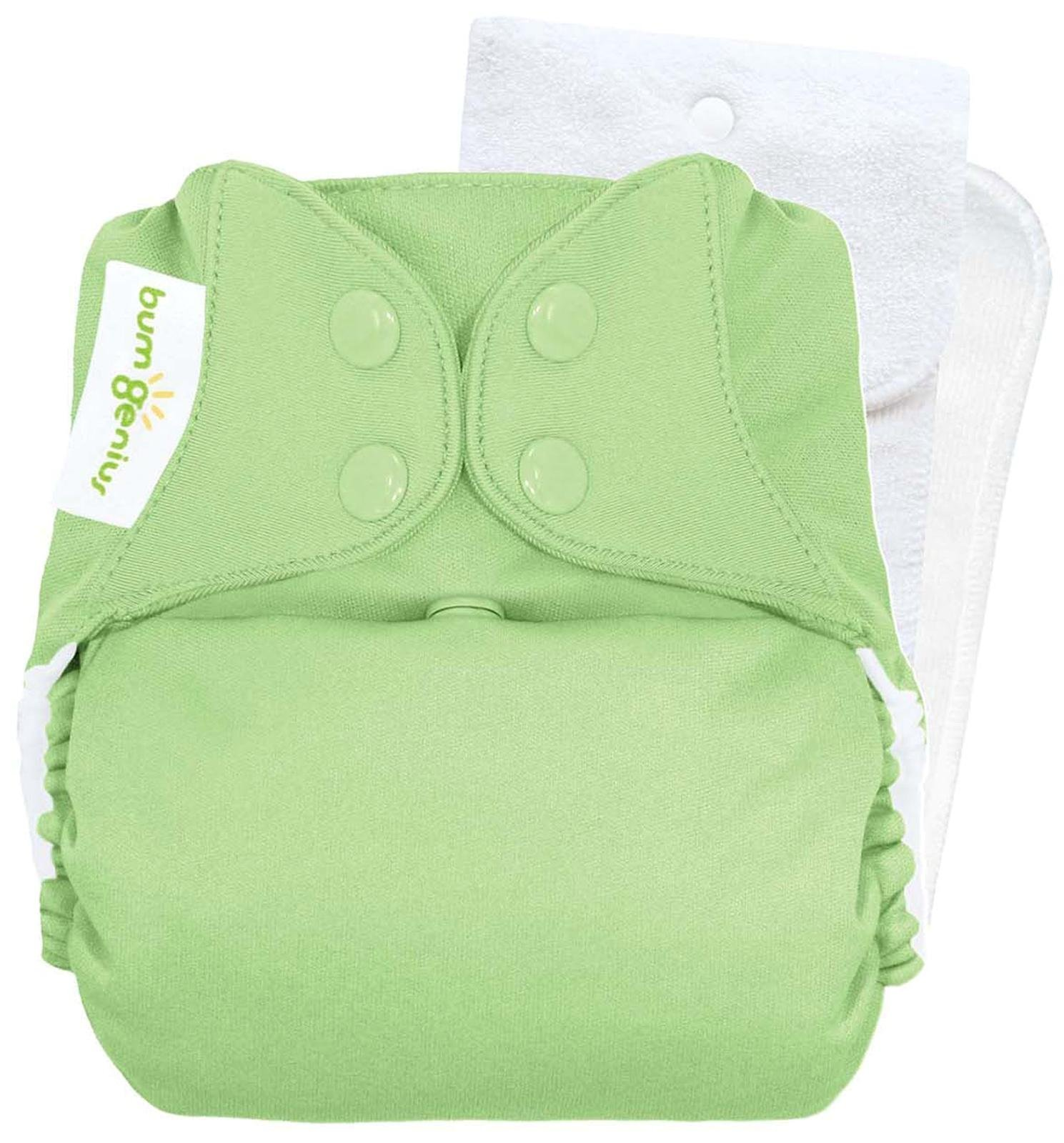 bumGenius Original One-Size Pocket-Style Cloth Diaper 5.0 (Grasshopper)