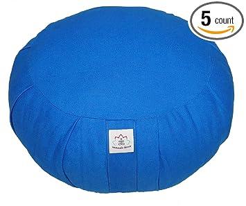 Amazon.com : Yoga Meditation Zafu Round Cushion Royal Blue ...