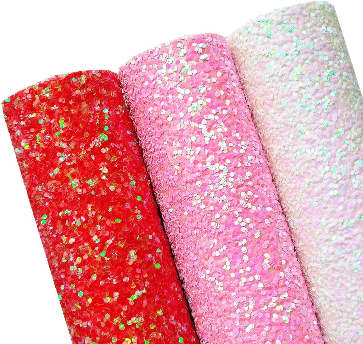 Candy Pink Glitter Material Soft Fine Sheet Bow Making