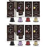 Caffè Carracci Gourmet Italian Nespresso Pods, Variety Pack, 80 Nespresso Coffee Pods Original Line Compatible, Medium & Dark