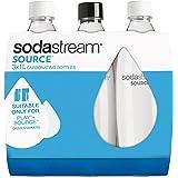SodaStream 3 Bottiglie per gasatore d'acqua, Capienza 1 litro, Modello Fuse, Compatibili con modelli Gasatore Source, Play, Power, Spirit