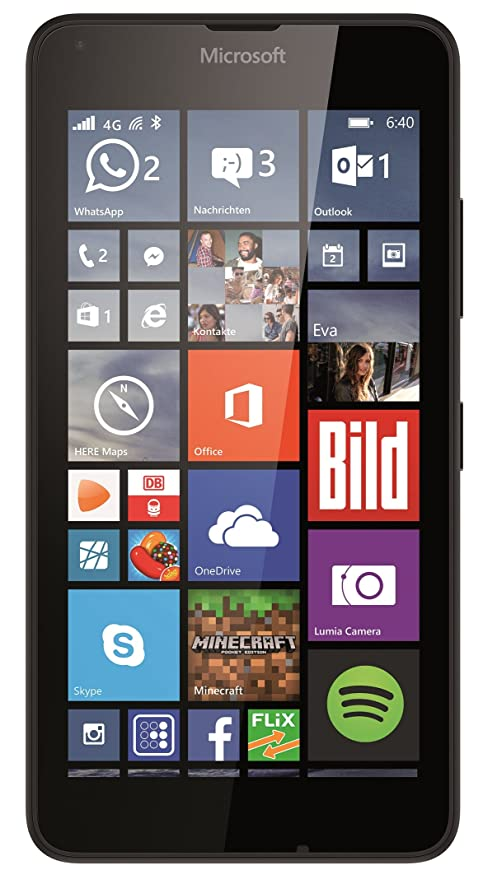Microsoft Lumia 640 LTE (4G & 3G) Smartphone, Display HD-IPS