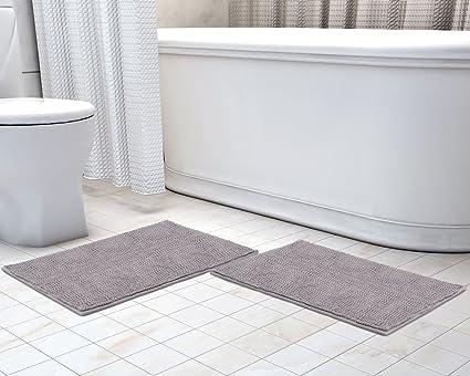 Tappeti Da Bagno Grandi Dimensioni : Lifewit 2 pezzi tappeto da bagno doccia 60x43cmtappeto antiscivolo