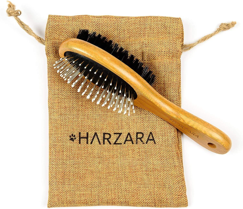Harzara - Cepillo ecológico para mascotas para perros y gatos.