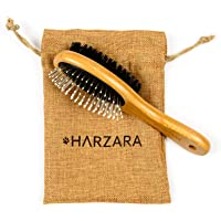 Harzara Eco-Friendly Pet Brush for Cats & Dogs. Professional, Double Sided Pin & Bristle for Short, Medium Or Long Hair…
