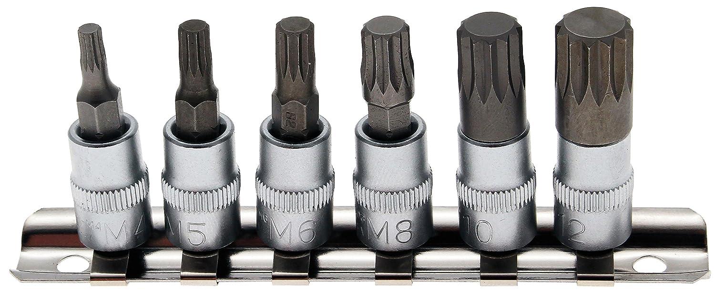 pour XZN M4 Bgs 2162 M12 6 pi/èces Jeu de douilles /à embouts 1//4 Denture multiple int/érieure