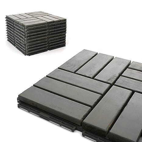 Deck Tiles   Patio Pavers   Acacia Wood Outdoor Flooring   Interlocking  Patio Tiles   12u0026quot