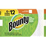 Bounty paper towels, white, 6 double rolls (12 regular rolls), 6 Count