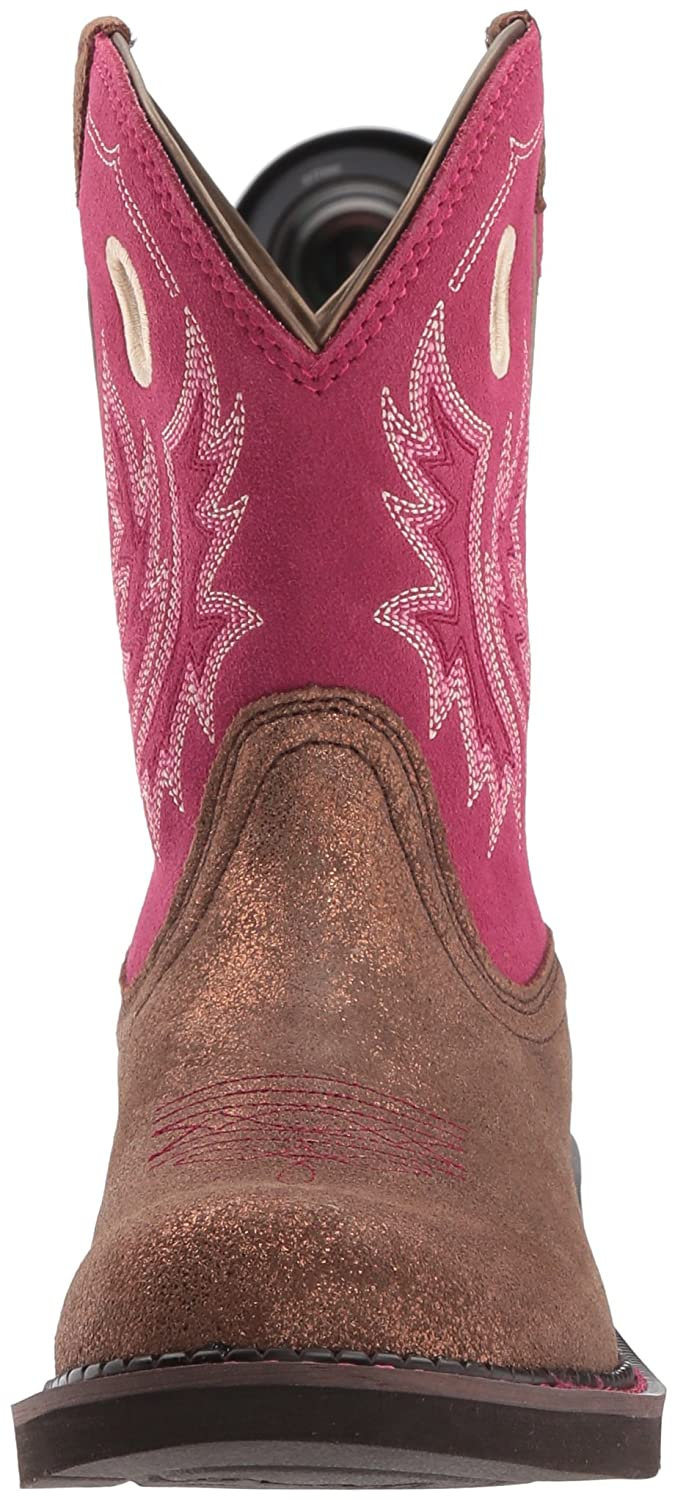 Ariat Women's Fatbaby B076MRR2R6 Heritage Cowgirl Western Boot B076MRR2R6 Fatbaby 9.5 B(M) US|Metallic Bronze/Hot Pink 1a3c0f