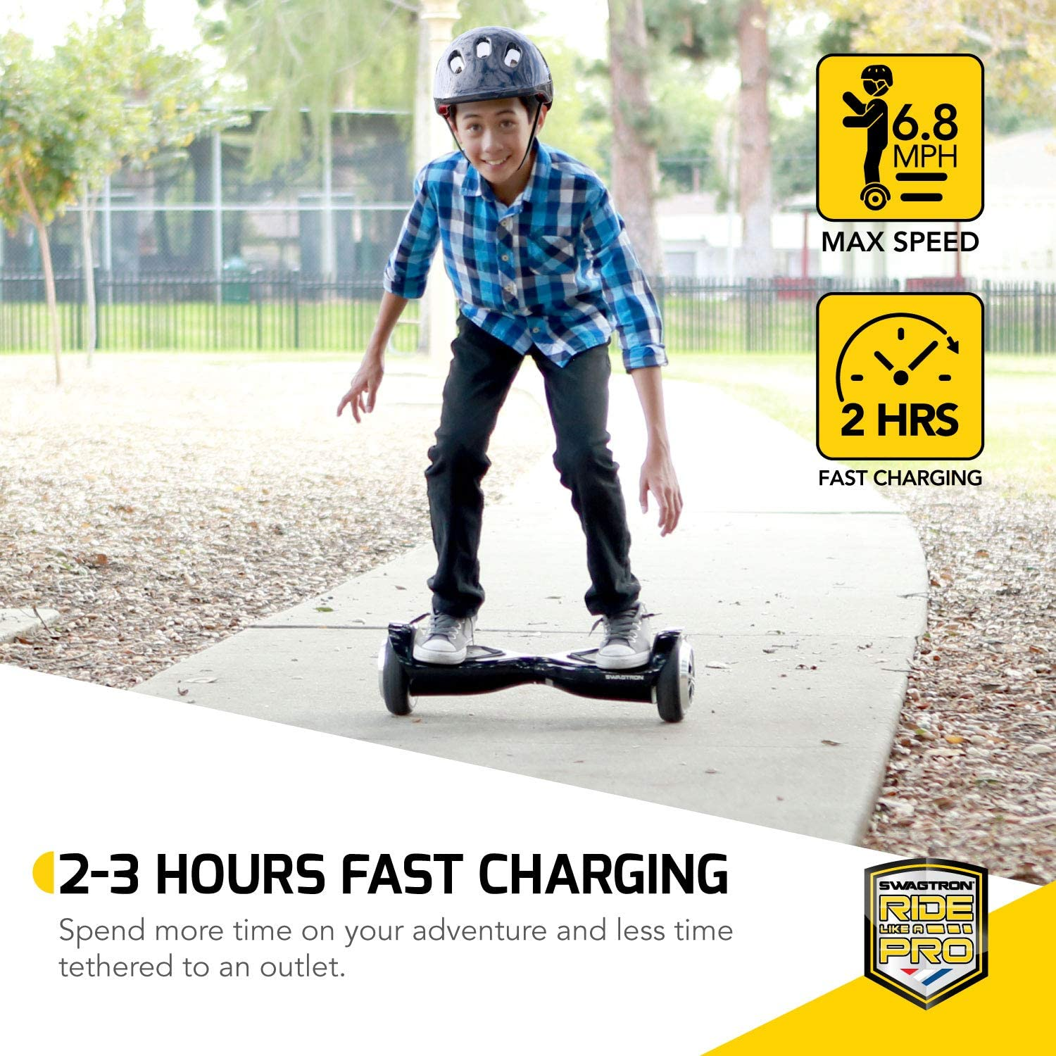 Swagtron Swagboard Hoverboard for Kids and Young Adults - 2