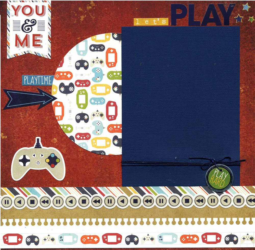 Let's Play - Premade Scrapbook Page by Susan's Scrapbook Shack, LLC