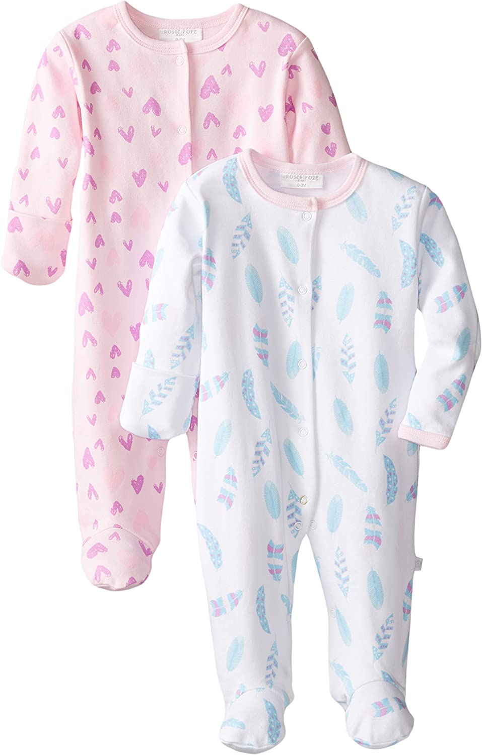 Rosie Pope Toddler Kids Baby Girls 2 Pack Coveralls