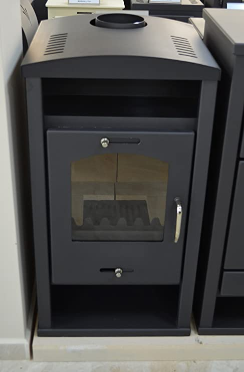 Estufa de leña con caldera integral de combustible sólido para calefacción central 12/17 kw