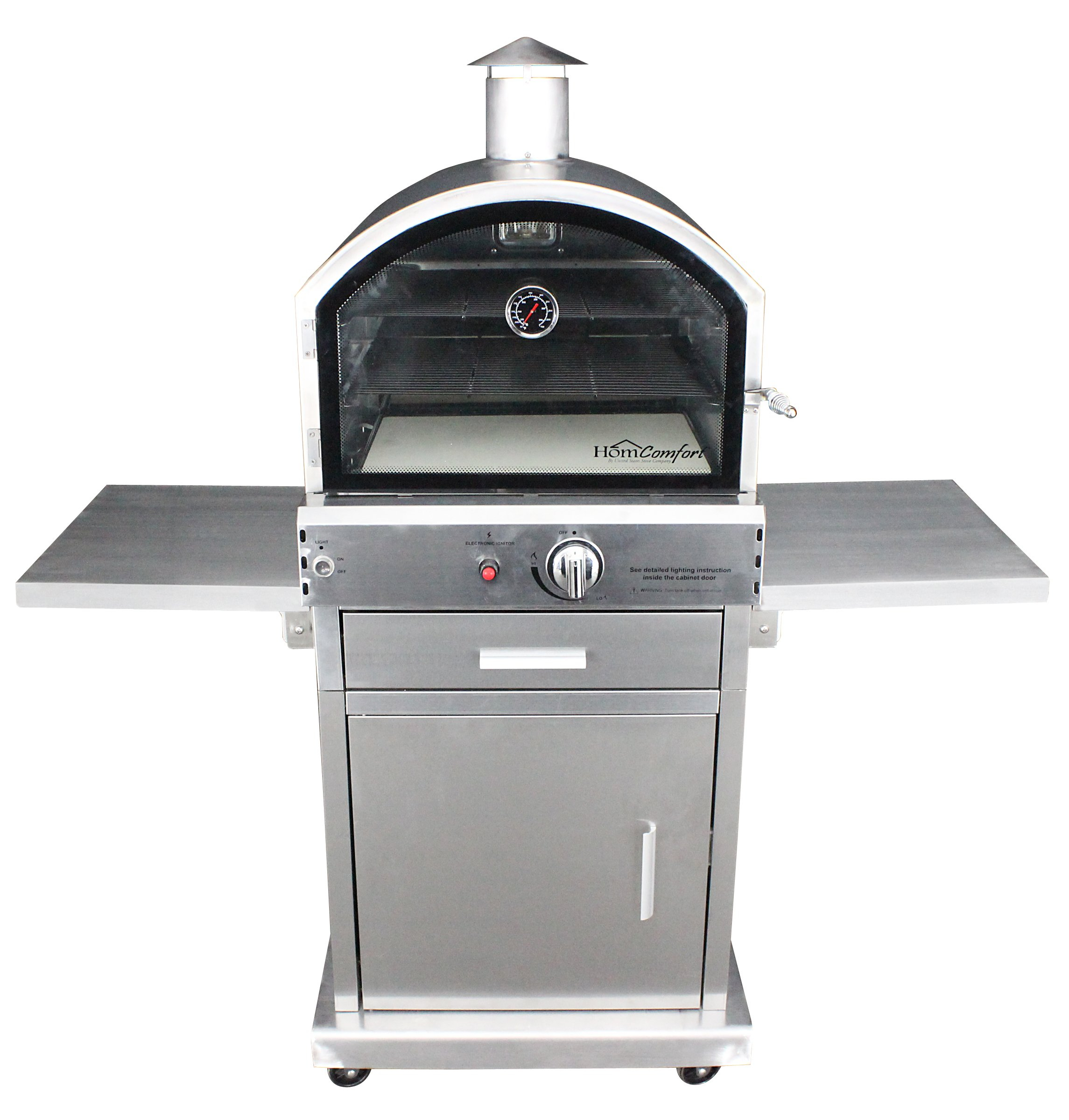 HomComfort HCP16SS Stainless Steel Gas Pizza Oven by HomComfort (Image #1)