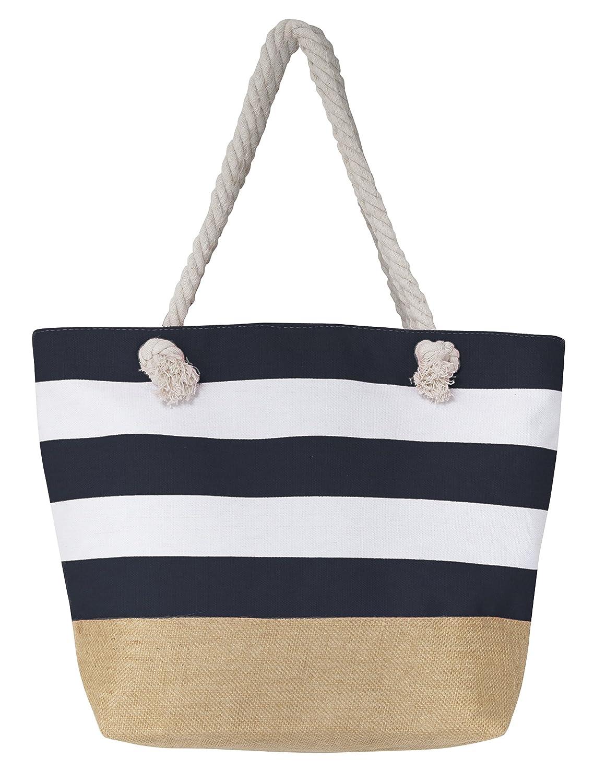 db4021597 Amazon.com | Leisureland Canvas Tote Beach Bag, Water Resistant Shoulder  Tote Bag (L20