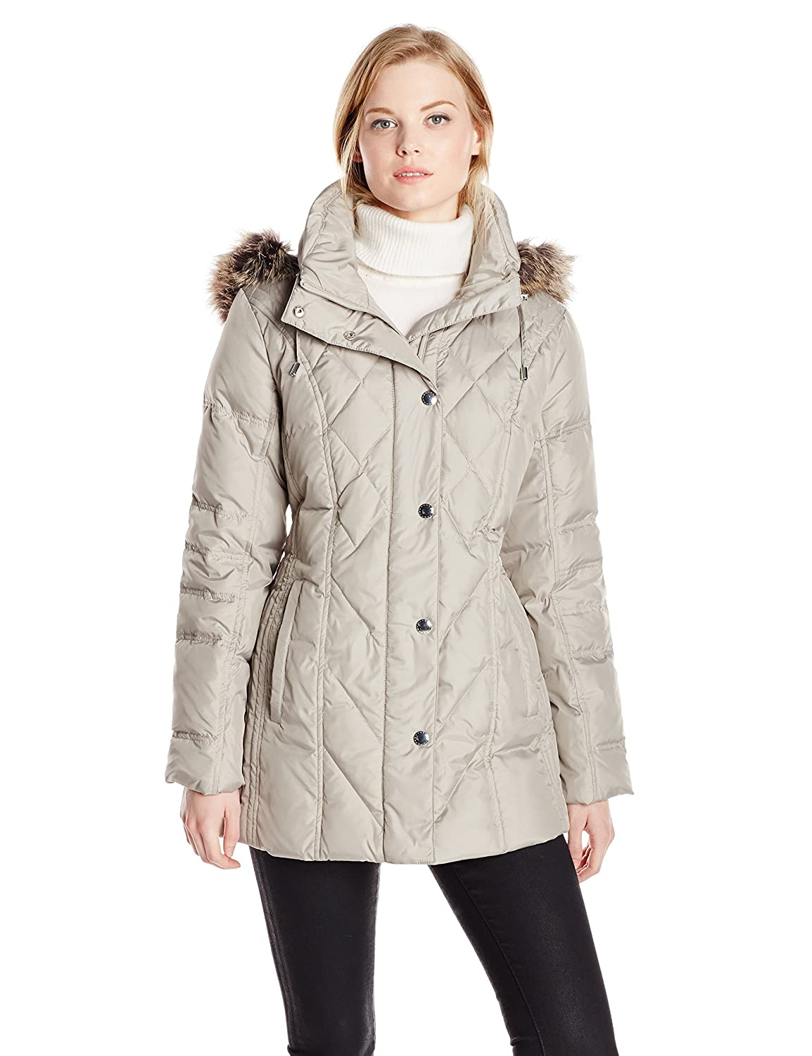 London Fog Women's Packable Down Quilted Coat L820627F74