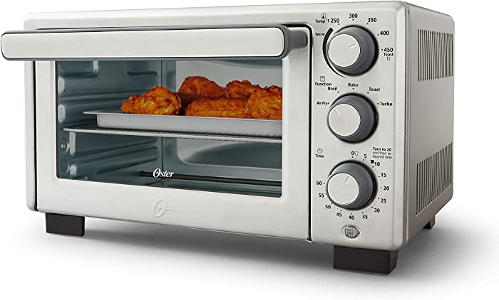 Oster® Compact Countertop Oven With Air Fryer, Stainless Steel