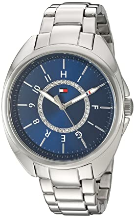Tommy Hilfiger Womens Quartz Stainless Steel Watch, Color:Silver-Toned (Model: