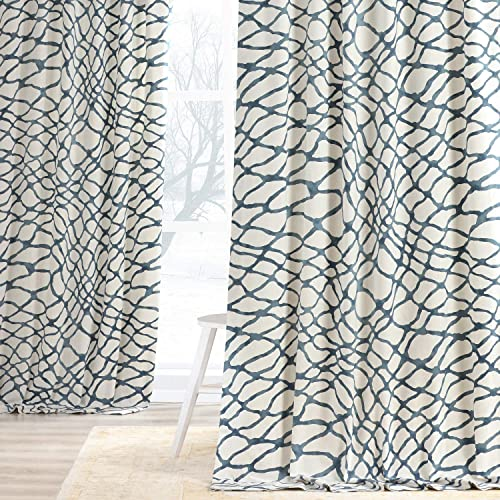 HPD Half Price Drapes PRTW-D50C-108 Printed Cotton Twill Curtain 1 Panel