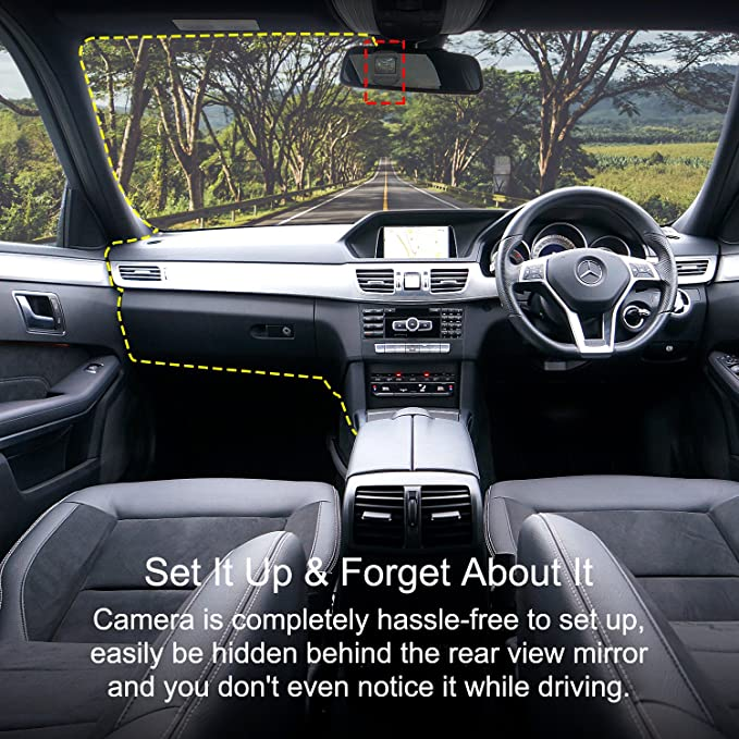 Park ing Monitor and G-Sensor MILALOKO 1080P Full HD Car