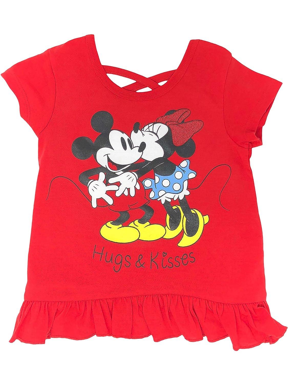 Disney Minnie Mouse Baby Infant Toddler Girls T-Shirt /& Bike Shorts Set