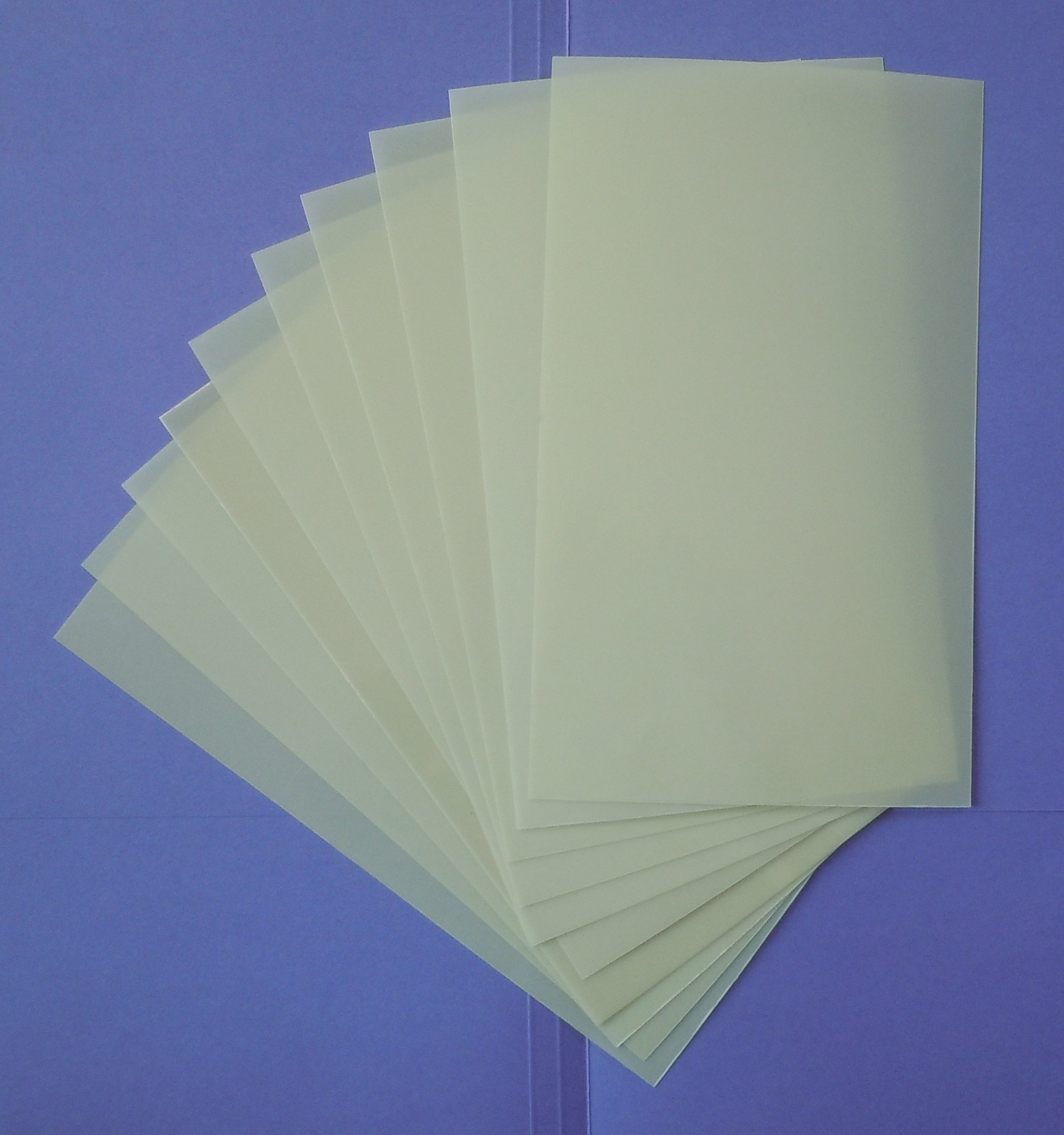 Heavy Duty 14mil Mylar Stencil Sheets - .014'' Thick Polyester Sheet 6''x10'' (10-PACK) by Liberty