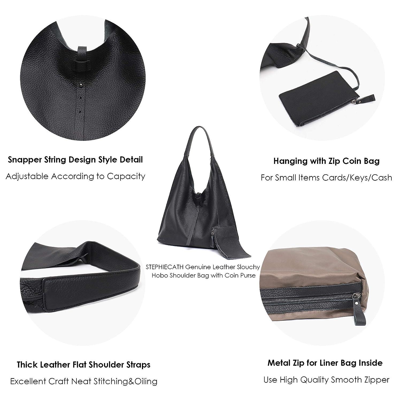 Amazon.com: Stephiecath - Bolso de piel de vaca para mujer ...