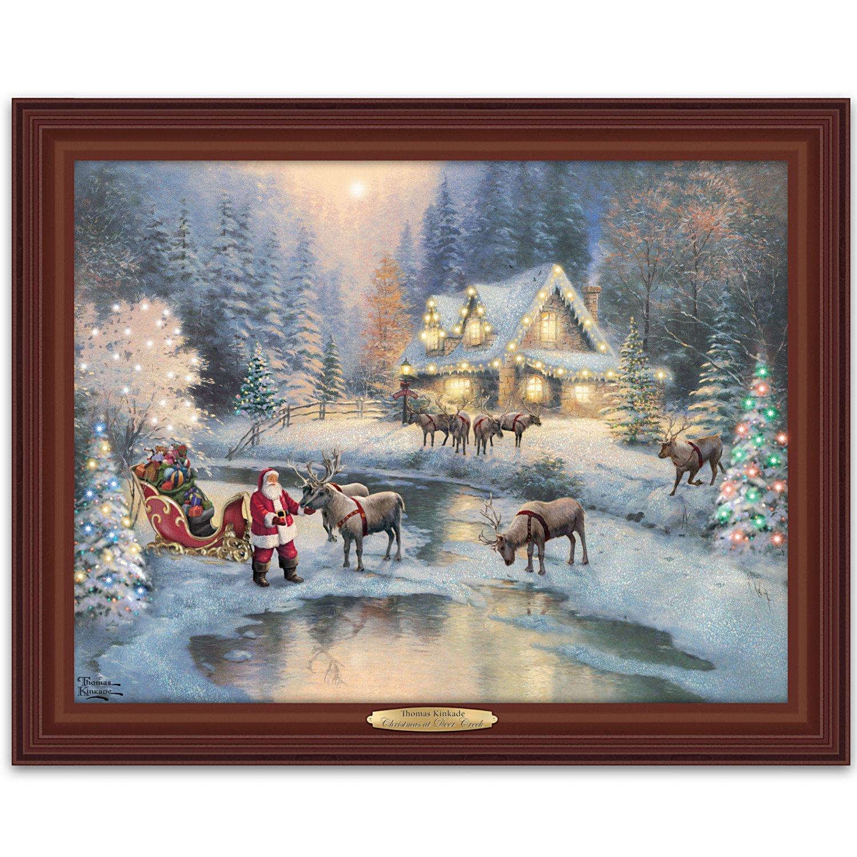 Amazon.com: Thomas Kinkade Lighted Framed Canvas Print Wall Decor ...