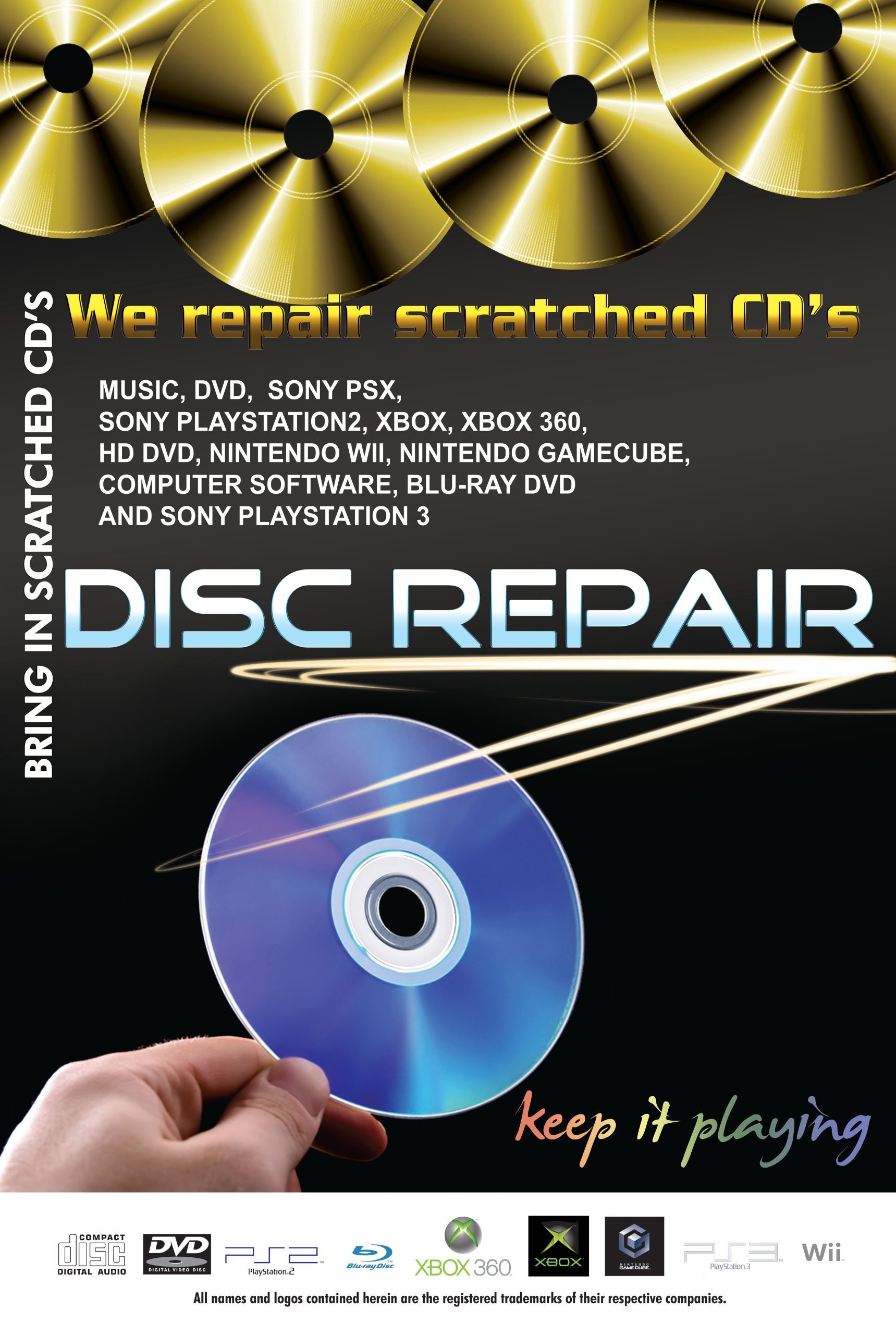 JFJ Disc Repair Poster by JFJ