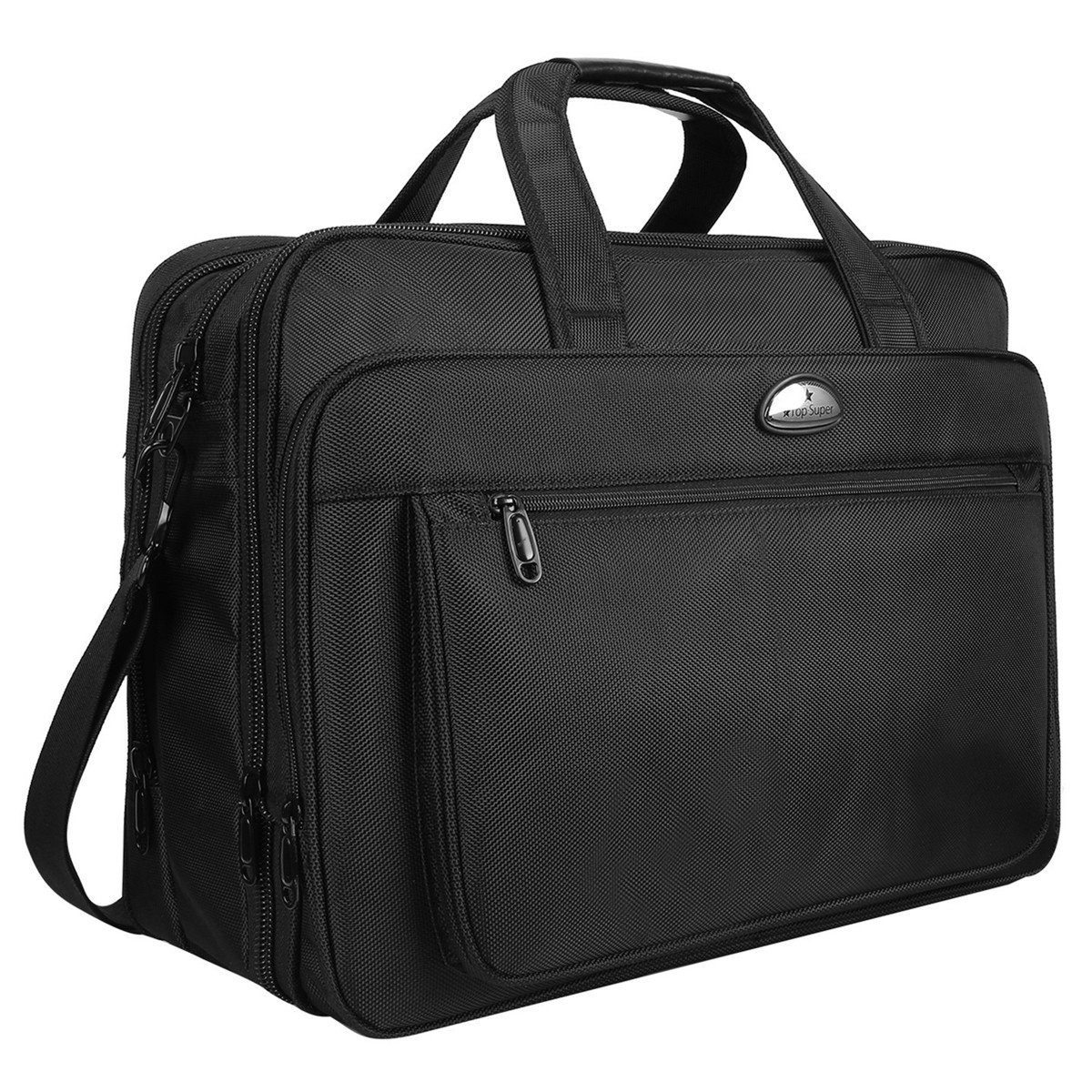 "Laptop bag, 18 Inch Large Briefcase, Travel Messenger Bag With Organizer, Expandable Business Office Bag, Water-Repellent Shoulder Bags For Men Women Fit Up to 17 17.3"" Inch Notebook"