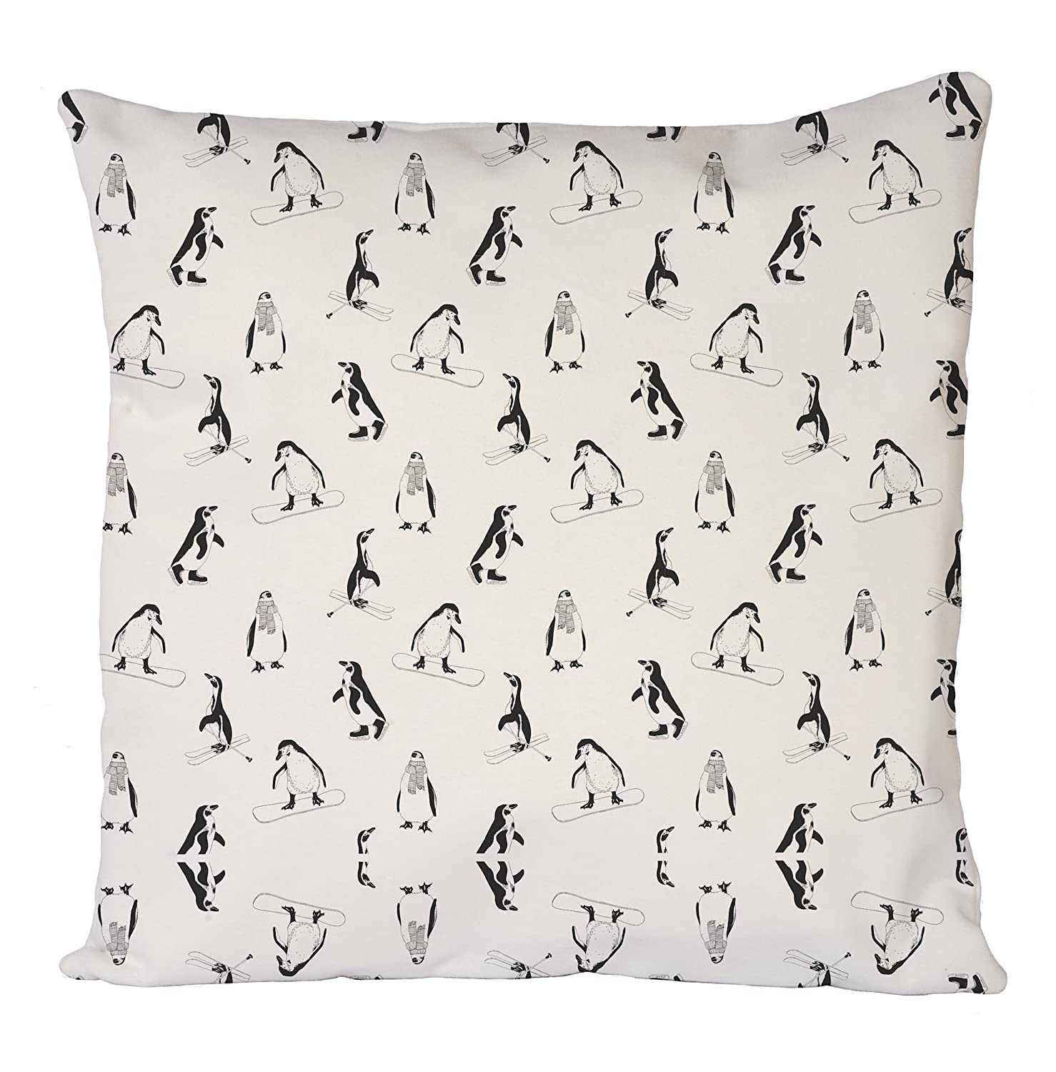 Uk print king Penguins Ski Seamless, Pillow Case, Cushion Cover, Home Sofa Dé cor Home Sofa Décor