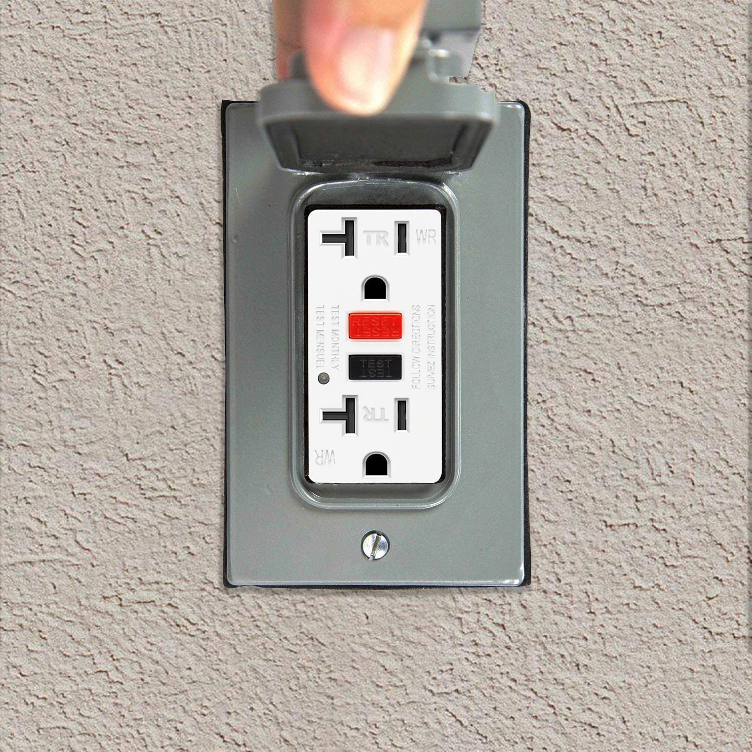3 Pack White ELECTECK 20A GFCI Outlets Non-Tamper Resistant Receptacles with Wallplates
