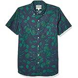 Goodthreads Men's Slim-Fit Short-Sleeve Printed Poplin Shirt