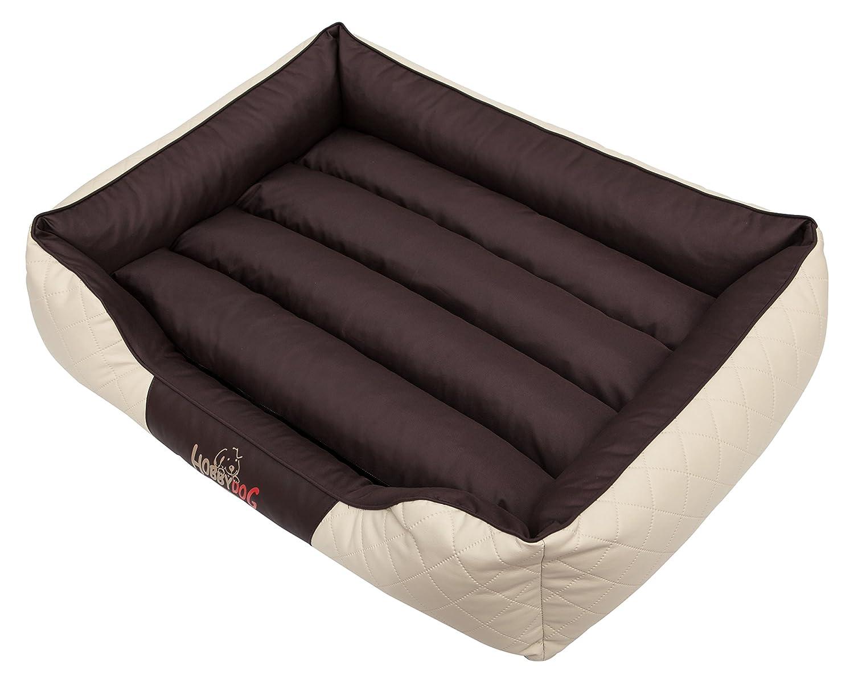 HOBBYDOG Cesarean Standard Dog Bed, Size 5, Beige Brown