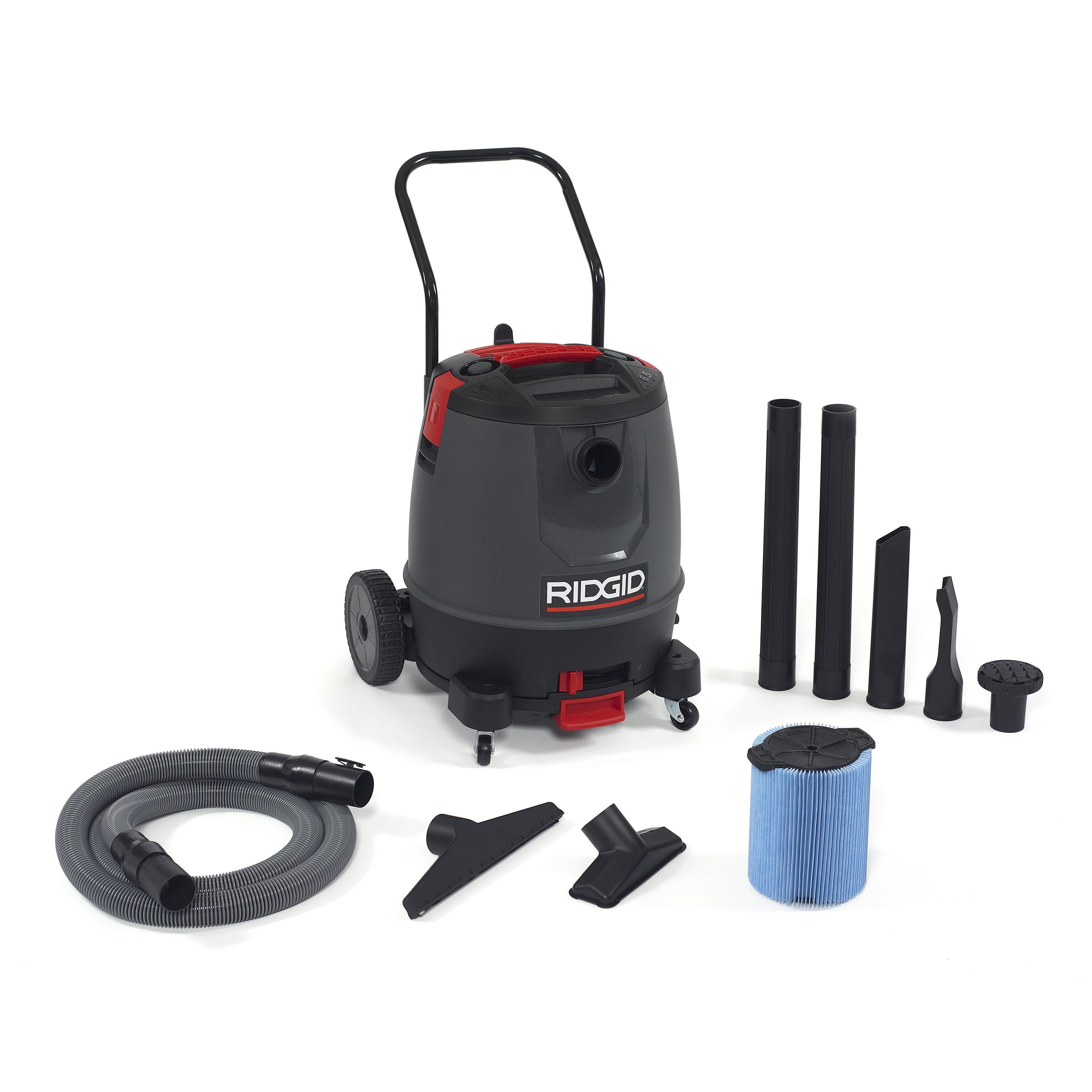 Ridgid 50338 1650RV Motor-On-Bottom Wet/Dry Vacuum, 16 gal, Red