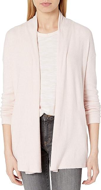 Amazon Brand - Daily Ritual Women's Cozy Knit Rib Draped Open-Front Cardigan Sweater