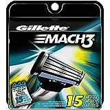 Gillette Mach3 Men's Razor Blade Refills, 15 Count