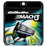 Amazon Price History for:Gillette Mach3 Men's Razor Blade Refills, 15 Count