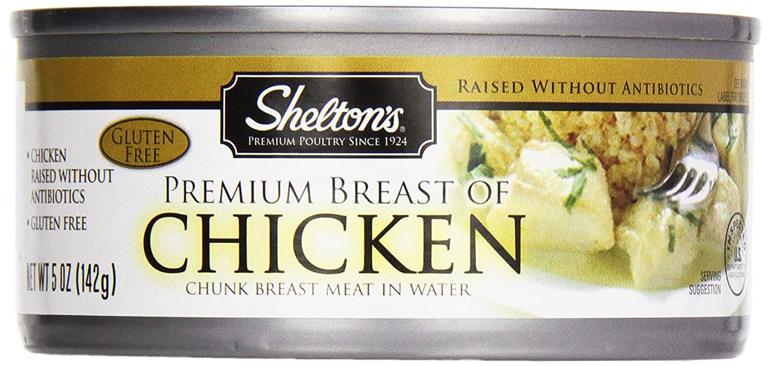 Shelton's Breast of Chicken in Water, 5-Ounce Cans (Pack of 12)