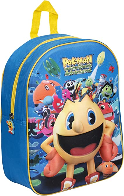 NEW OFFICIAL Pac-Man Shaped Novelty Backpack Rucksack Bag