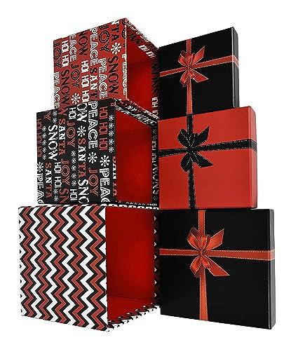 Amazon alef elegant decorative holiday themed nesting gift alef elegant decorative holiday themed nesting gift boxes 55quotx 5quotx 5quot negle Image collections