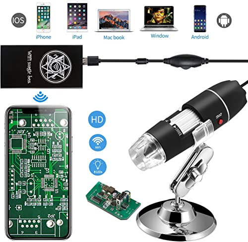 Jiusion USB Digital WiFi 40-1000x Endoscopic Microscope Mini Camera
