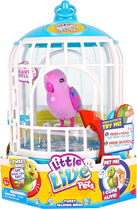 Little Live Pets Bird With Cage Assortment Electronic Pets Amazon Canada