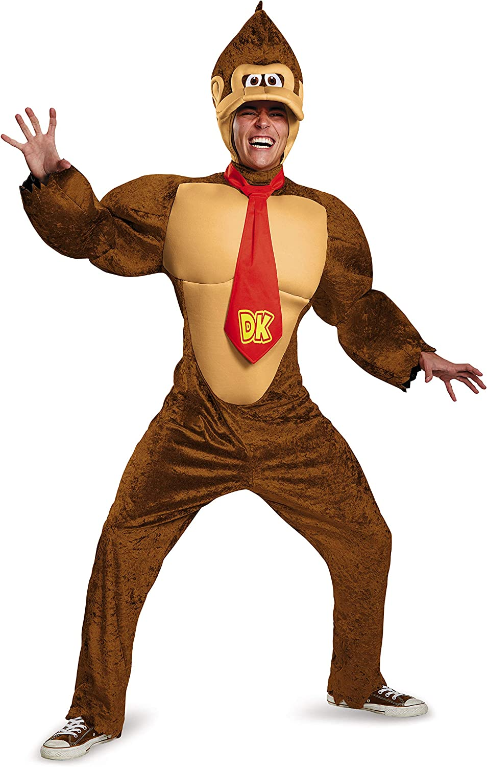 Nintendo Deluxe Donkey Kong Costume for Adults. XL, XXL