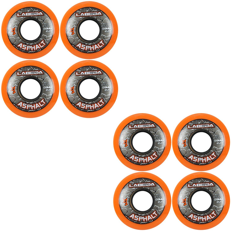 Labeda アスファルトオレンジインラインスケートホイール 59mm   B0094J4KGS