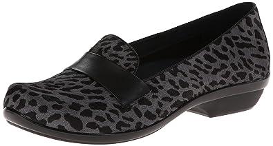 Dansko Women's Oksana Flat,Grey Cheetah Hair Calf,36 EU/5.5-6