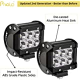 Pivalo 6 Led Fog Light / Work Light Bar Spot Beam Off Road Driving Lamp 2 Pcs 18W Cree - Universal Fitting Hence Good Fit On All Bikes And Cars